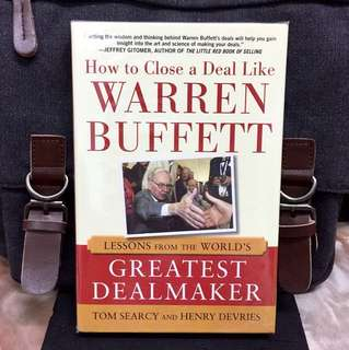 # Highly Recommended《Bran-New + Hardcover Edition + The Winning Blueprint For Making Deals Like The Oracle Of Omaha》HOW TO CLOSE A DEAL LIKE WARREN BUFFETT : Lessons from the World's Greatest Dealmaker