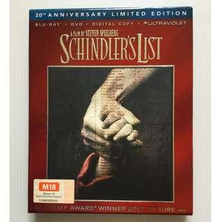 Schindler's List Blu Ray + DVD
