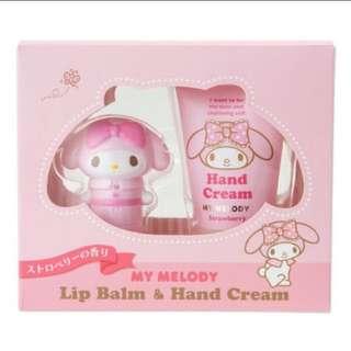 My Melody Lip Balm & Lotion Cream Set!