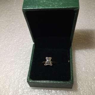 18K玫瑰金15份黑鑽石戒指