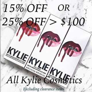 <MARCH PROMO> Kylie Lip Kits/Lipgloss/Metallic