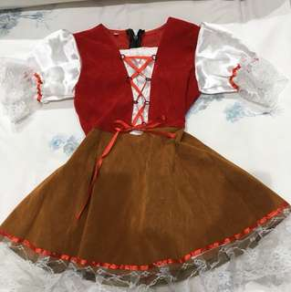German Girl Traditional Costume - 3 years old (85-90cm tall)