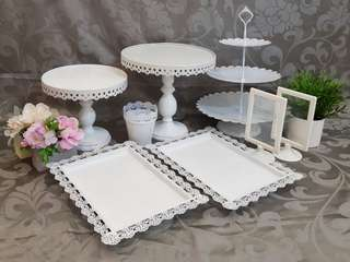 Dessert Table set, party set, cake stand, cupcake stand for rent