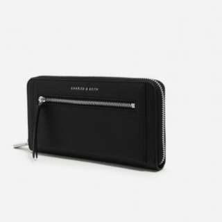 Charles and keith front zip long wallet