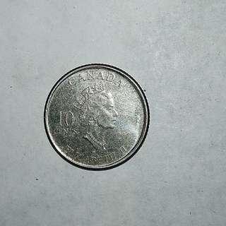 Canada 2001 10¢ coin