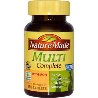 Nature Made, Multi Complete Vitamin with Iron, 130 Tablets