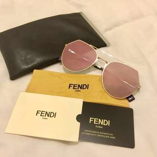 Fendi FF0194/S Rose Gold Sunglasses like new