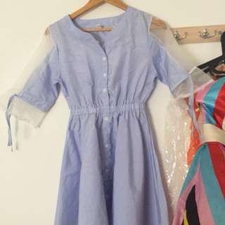 Import blue dress