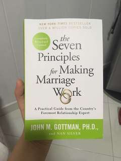 The Seven Principles for Making Marriage Works