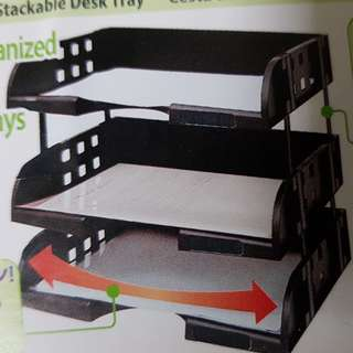 A4 Letter Size Side Load Stackable Desk Tray