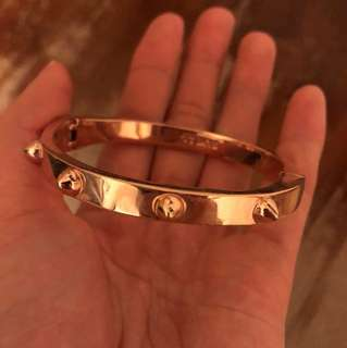 Rose Gold CC Skye Bracelet Clasp Bangle