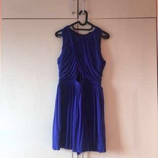 TOPSHOP NAVY BLUE DRESS
