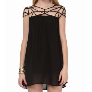 Sheinside Black Caged Dress