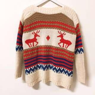 🚚 麋鹿針織毛衣上衣