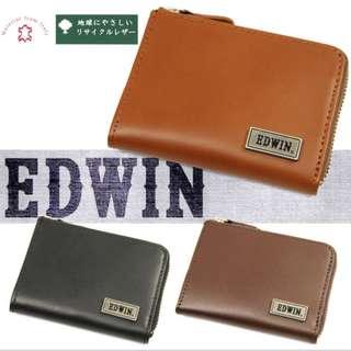 日本EDWIN 再生皮革零錢包散子包 Coin Case