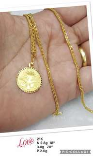 21K Genuine Gold Necklace (pls view)