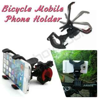 🚲 Bicycle / Motocycle Clip On Mobile Phone Holder. Clamp Design - Able To Hold Iphone6 Plus And Note5 Sizes  Padded Clip To Hold Phone Securely