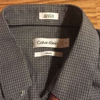 👔💯🔥👌 authentic Calvin Klein short sleeve button down shirt