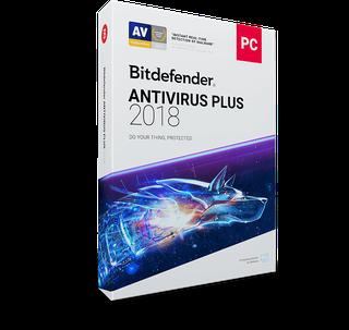Bitdefender Antivirus Plus 2018 - 1 PC 1 Year (Windows)