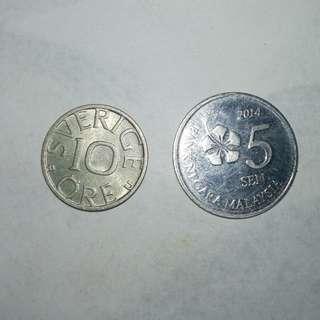 Sweden 1961 10ore coin
