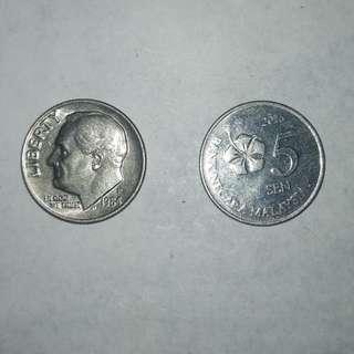 USA 1984 1dime coin