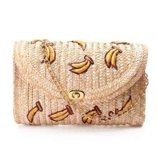 Banana Envelope Chain Sling Bag
