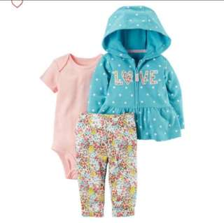 *12M* Brand New Carter's 3-Piece Little Jacket Set For Baby Girl