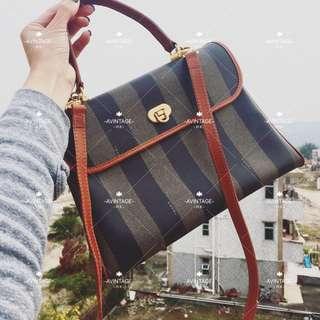 (SOLD)Fendi Vintage 直間紋 Kelly Bag