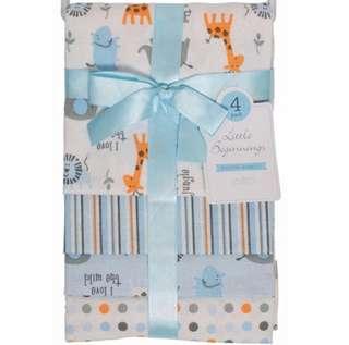 Brand New Little Beginnings Receiving Blankets For Baby Boy