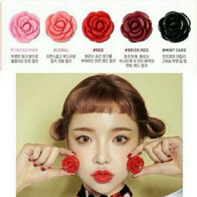 3CE紅玫瑰護唇膏/潤唇膏/口紅