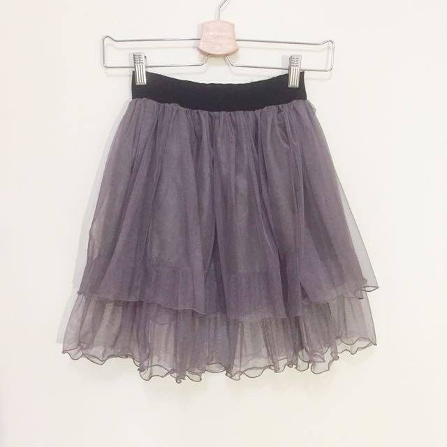 藕紫灰色紗裙