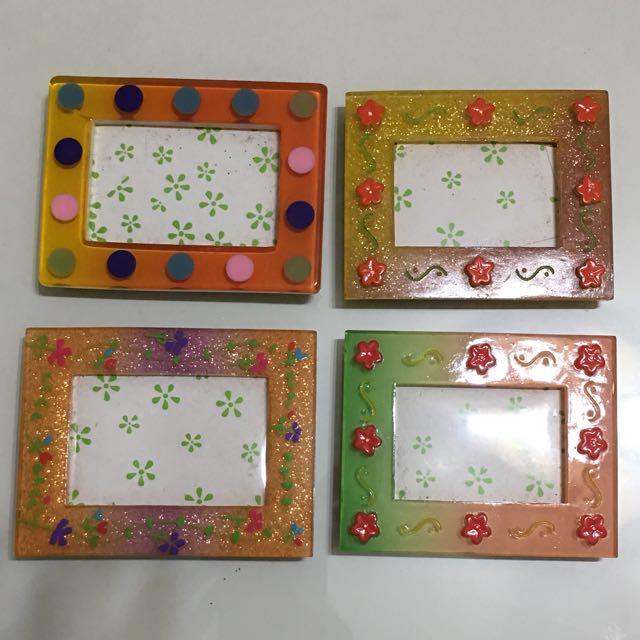果凍手作彩繪小相框 吸鐵式相框 立式相框