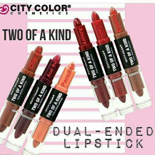 ❤ City Color The Two of a Kind Lipstick Original
