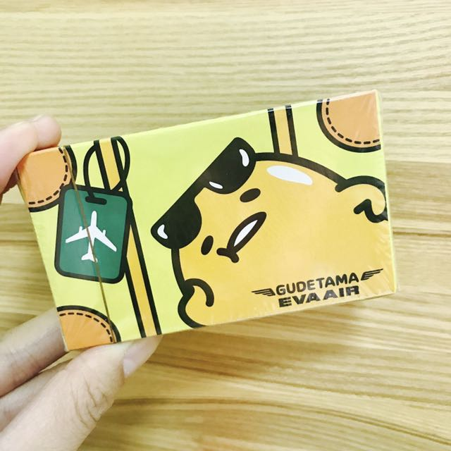 蛋黃哥 Gudetama。長榮航空 EVA AIR。撲克牌