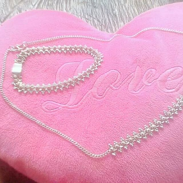💯 pure silver Necklace and bracelet