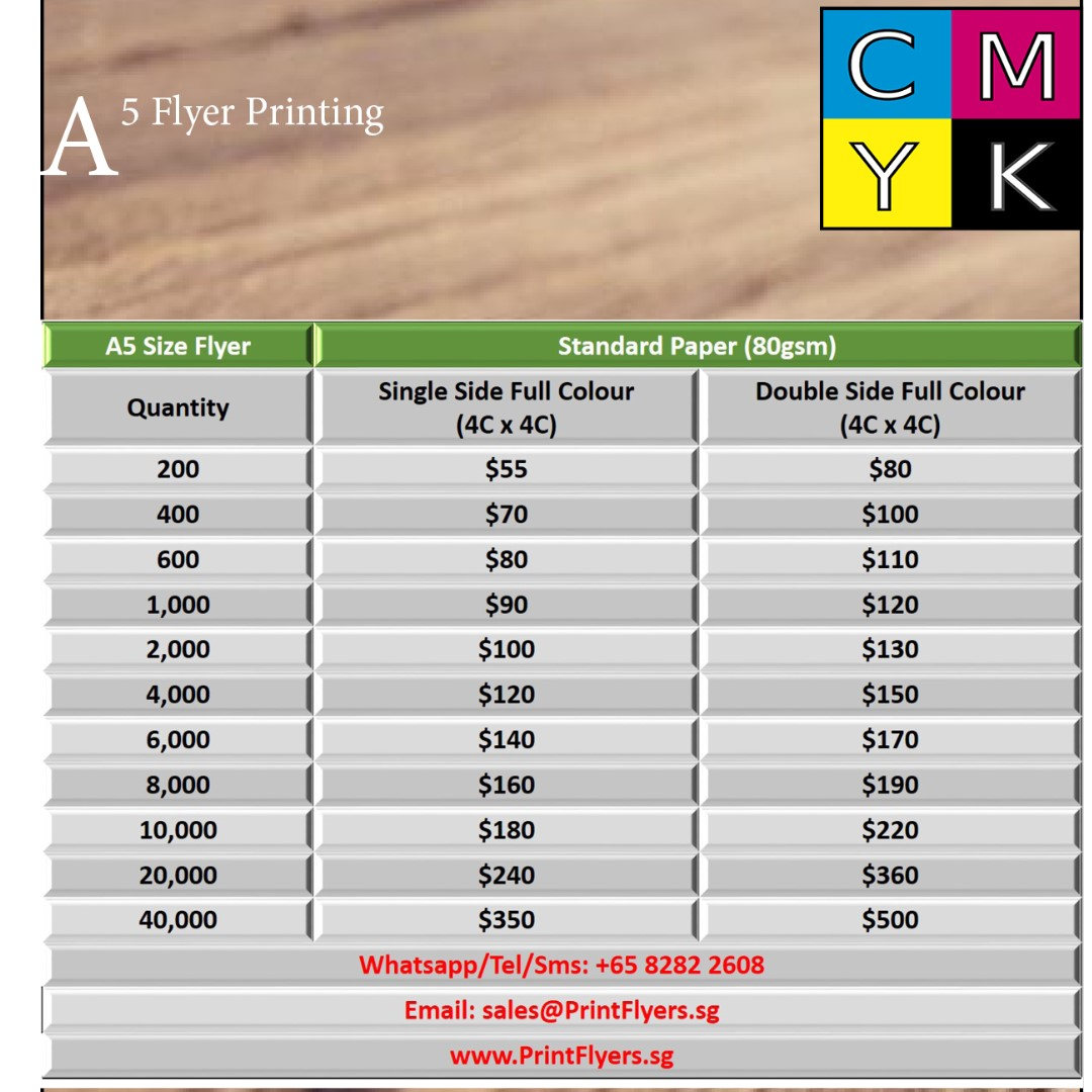 A5/A4/A3 Flyer - CHEAPEST IN TOWN: Flyer Printing Services - www