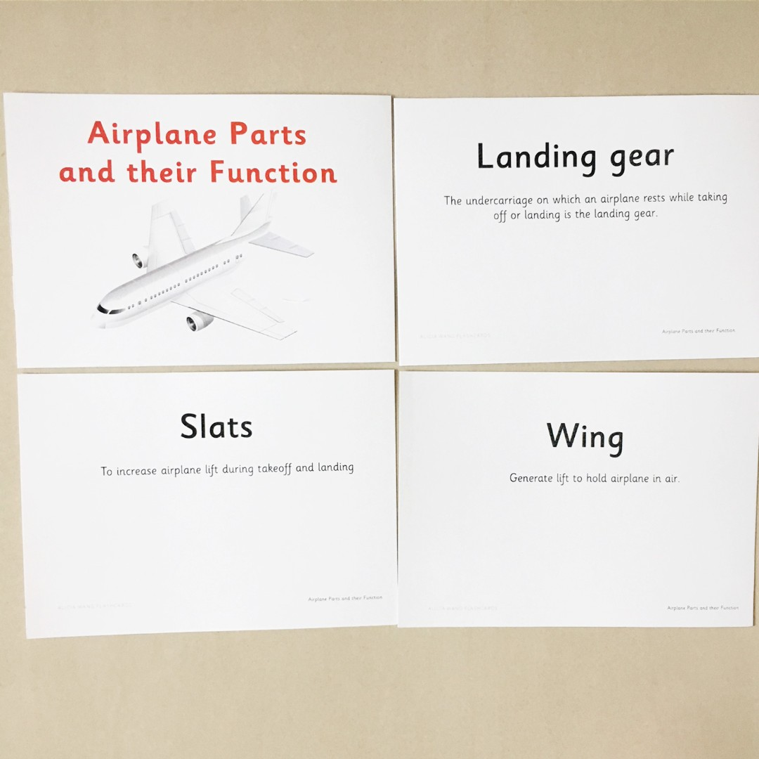 Airplane parts flashcards shichida heguru right brain training airplane parts flashcards shichida heguru right brain training flashcards babies kids on carousell ccuart Images