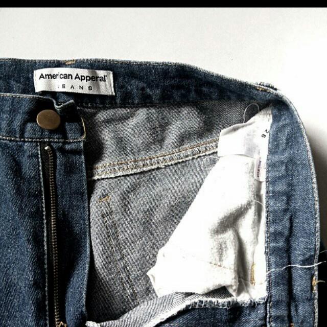 American Apparel Highwaist Denim Shorts