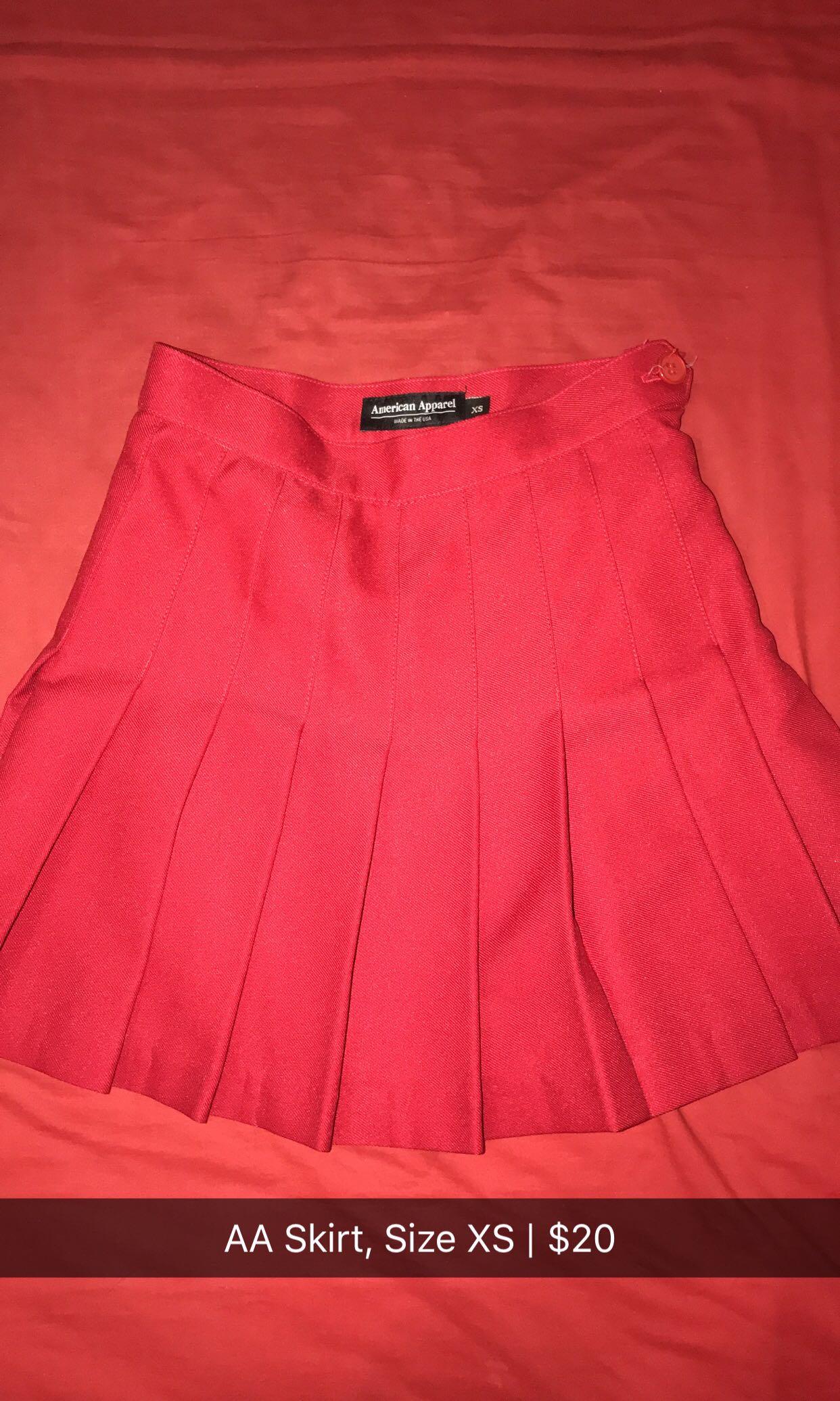 American Apparel Skirt - Red
