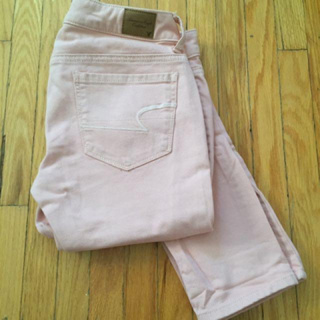 American Eagle Pink Skinny jeans