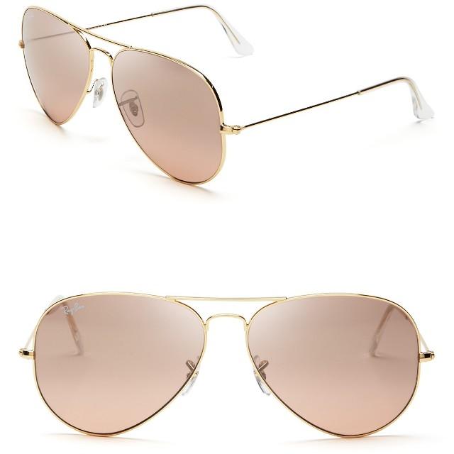 c5cac23289ecb8 Authentic Rayban Aviator Sunglasses in Rose Gold Lens, Women s ...