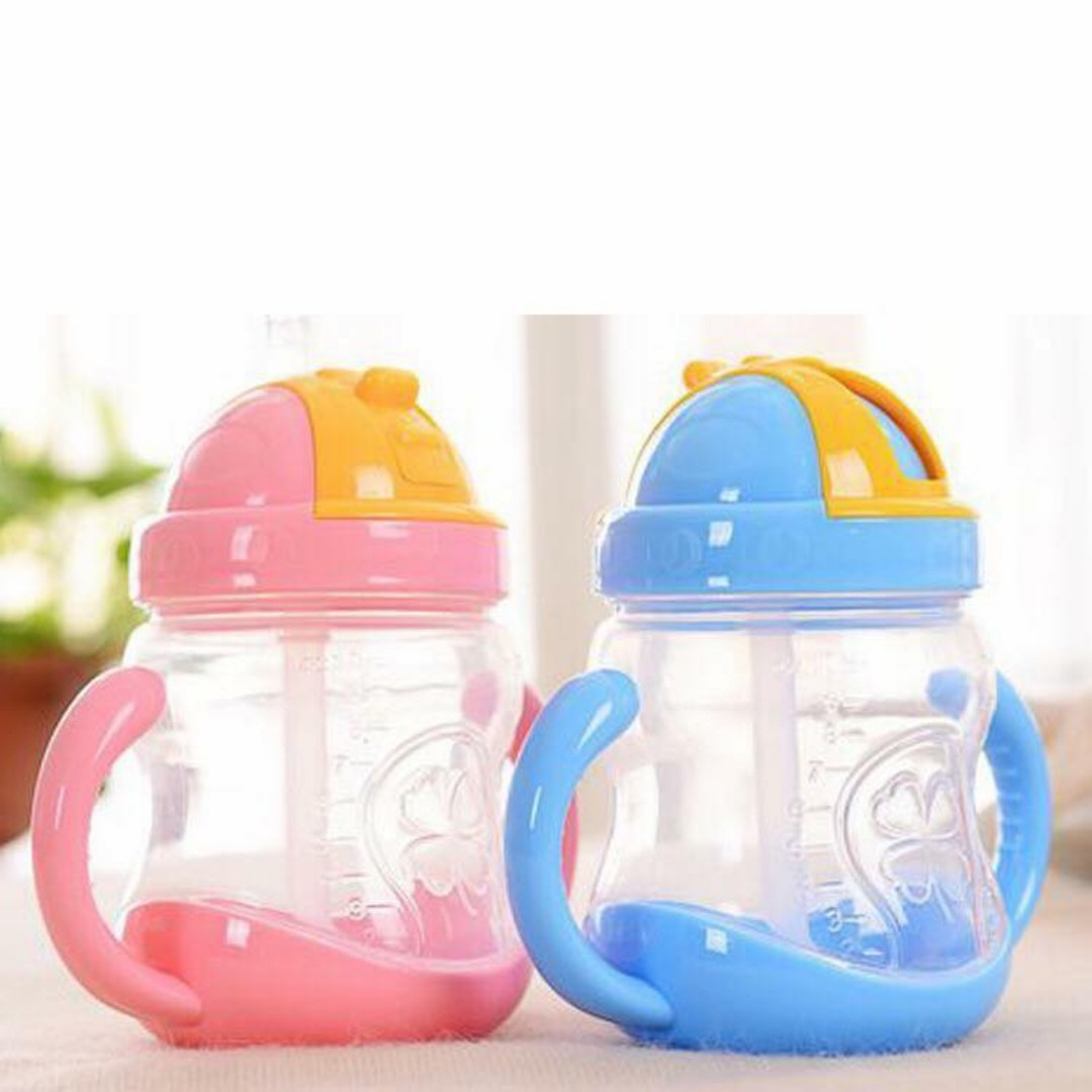 Baby learn drinking glass with handle