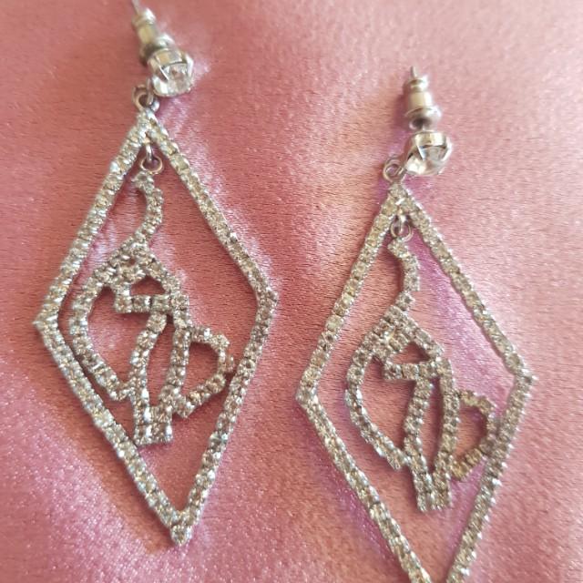 BABY PHAT Diamante earrings silver