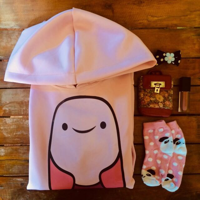 Big Princess Bubblegum Head Hoodie Preloved Womens Fashion