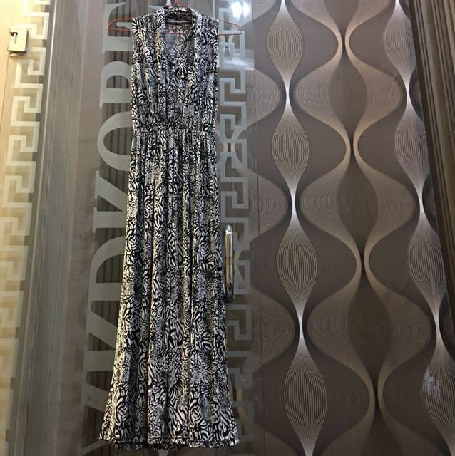 Black casual long dress