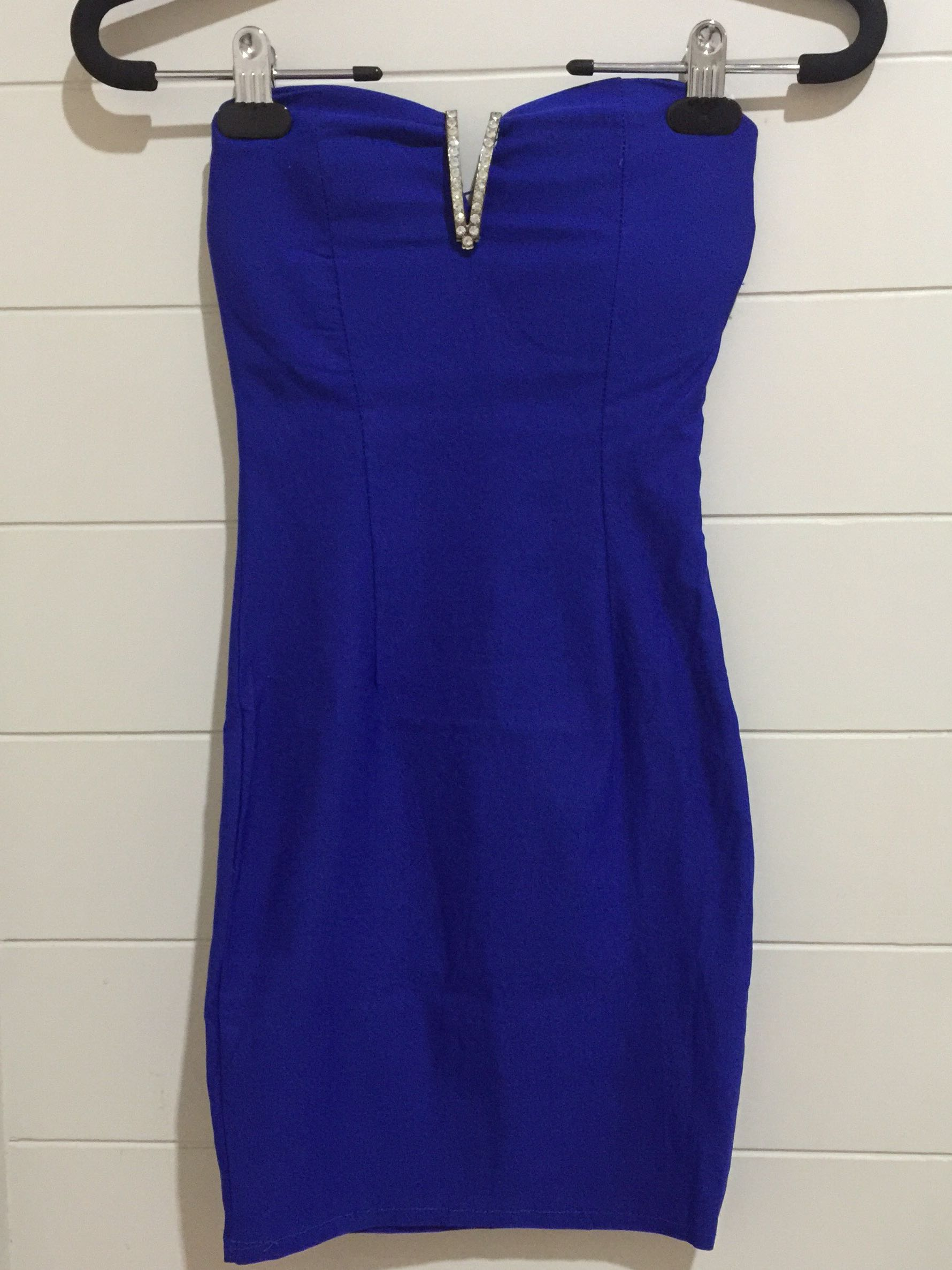BLUE SEXY BODYCON DRESS