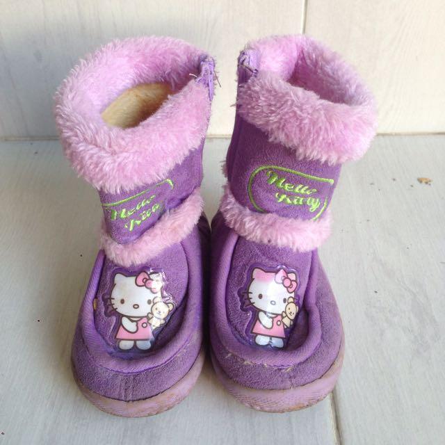 Boots Hello Kitty Purple