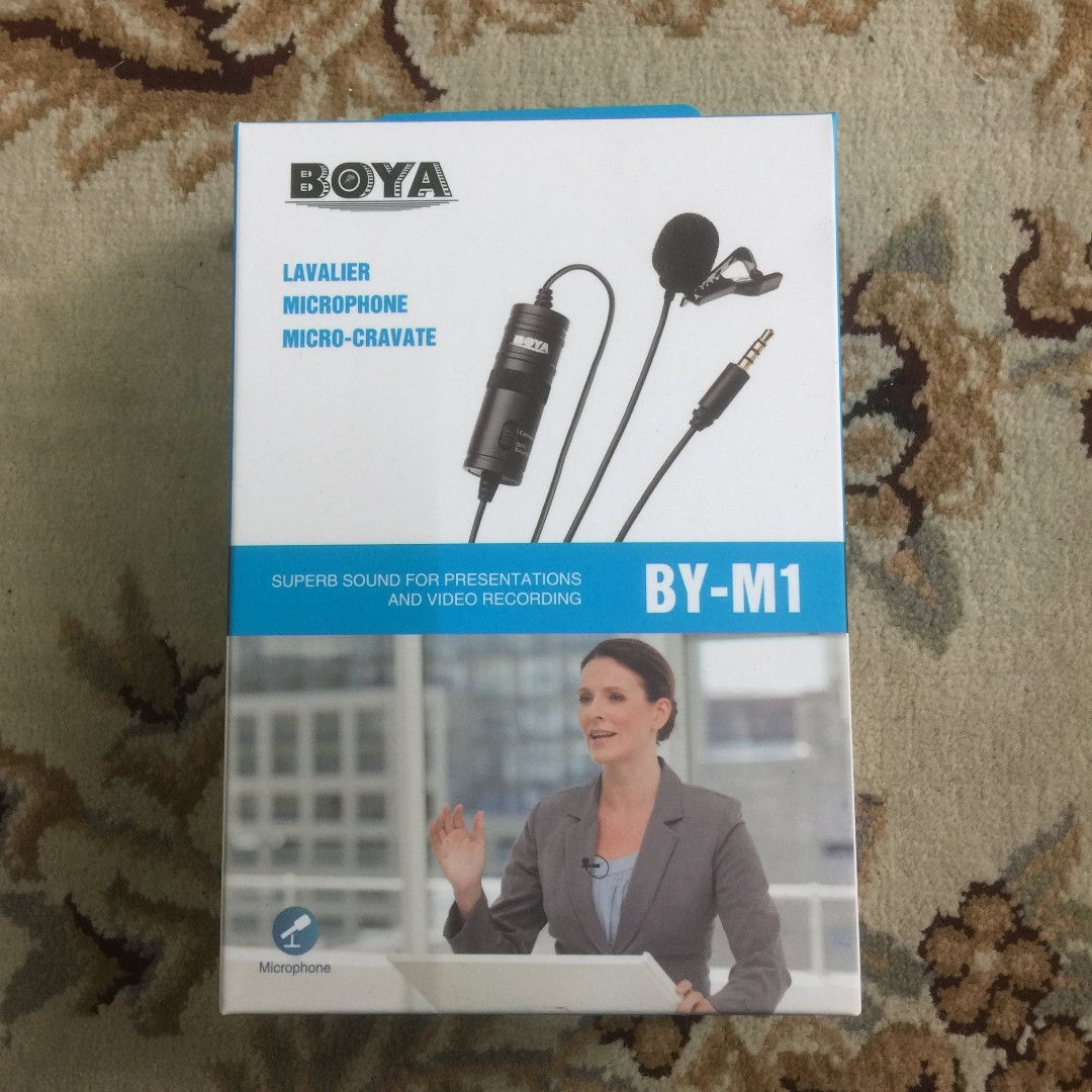 Boya BY M1 Lavalier Cabled Clip Mic ( Microphone ) 6m cable