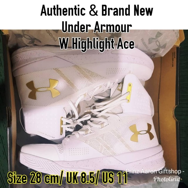 Brand New Under Armour Highlight Ace MONEY BACK GUARANTEED for size 10Mens READ DETAILS