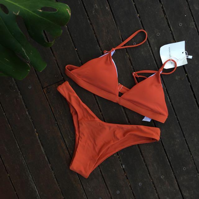 Burnt Orange Bikini Set